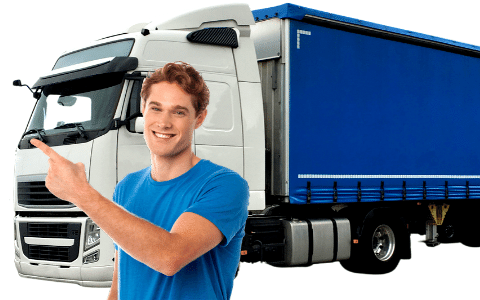 Volvo Truck Driver looking at clothing