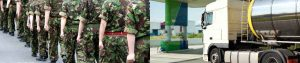 British Soldiers driving fuel tankers UK